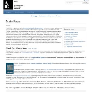 AIC WIKI Main Page