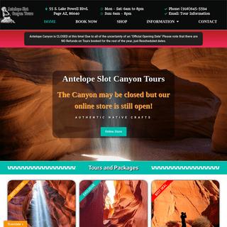 Home - Antelope Slot Canyon Tours