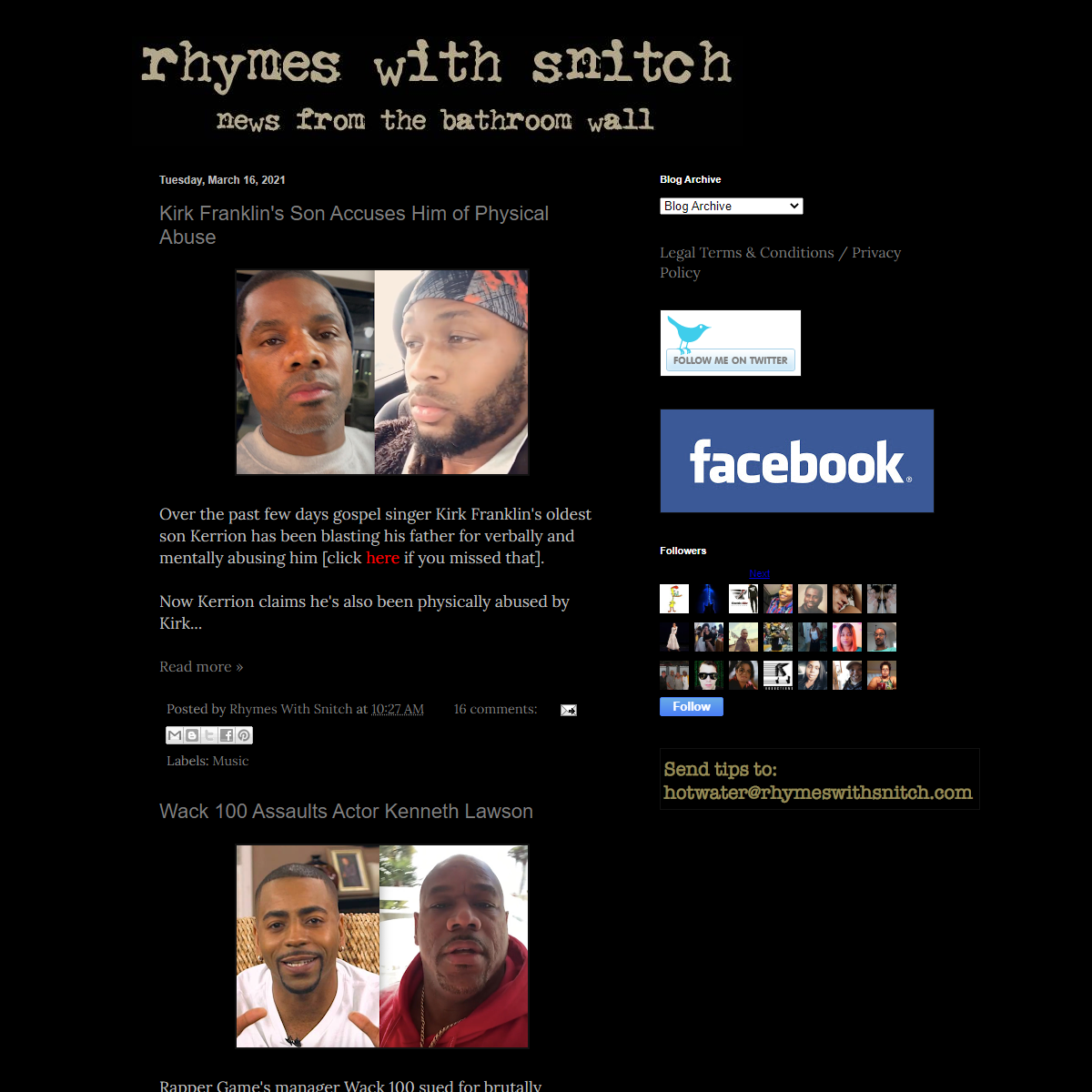 Rhymes With Snitch - Celebrity and Entertainment News -
