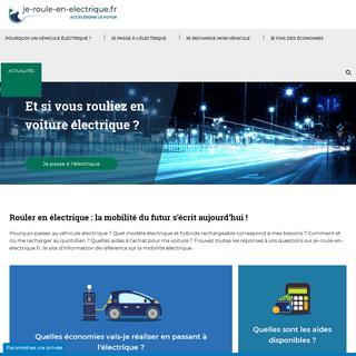 Je-roule-en-electrique.fr, pour vous accompagner vers la mobilité électrique