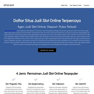 Daftar Situs Judi Slot Online Aman Terpercaya