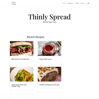 Thinly Spread - Making Vegan Easy