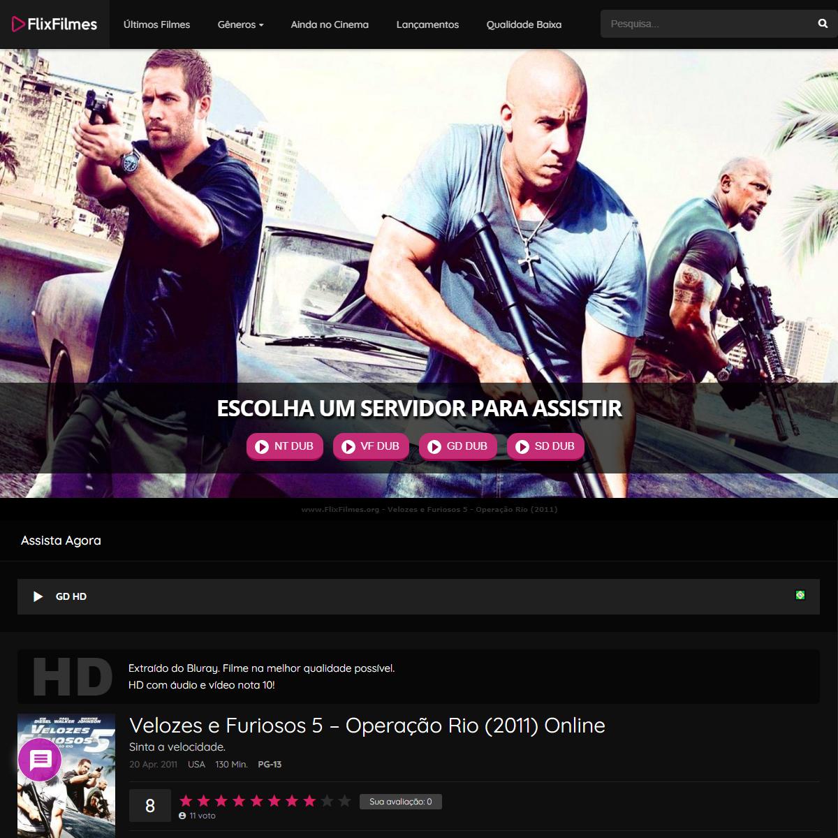 Velozes e Furiosos 5 - Operação Rio (2011) Online - Flix Filmes