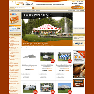 Outdoor Canopies - Pop Up Canopy, Portable Shade, Carports, Wedding & Party Tents For Sale
