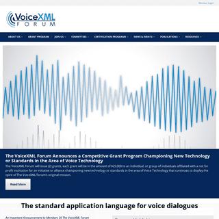 VoiceXML – The World`s Leading VoiceXML Advocate
