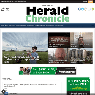 heraldchronicle.com - Local News Serving Franklin County Since 1850