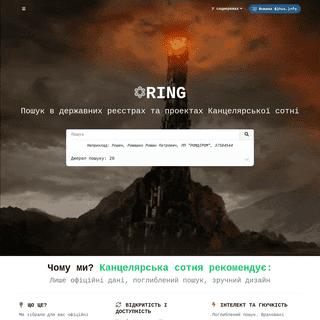 Ring, зручний пошук відкритими даними України