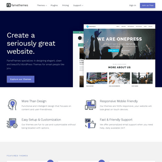 Best Premium WordPress Themes 2021 – FameThemes