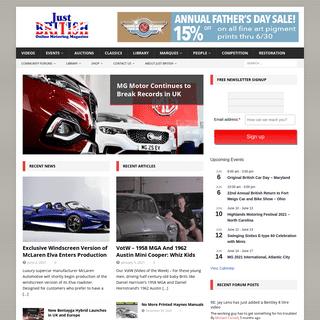 Just British - Online Motoring Magazine
