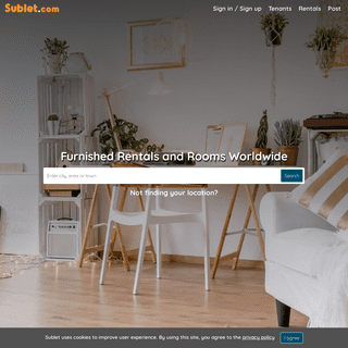 Sublet- Furnished Apartments, Rentals and Rooms