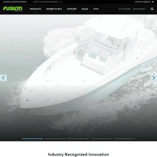 Marine Audio Solutions - Fusion Entertainment A Garmin Brand