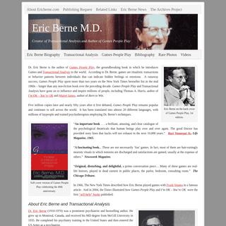 Eric Berne - Games People Play Author + Transactional Analysis Creator