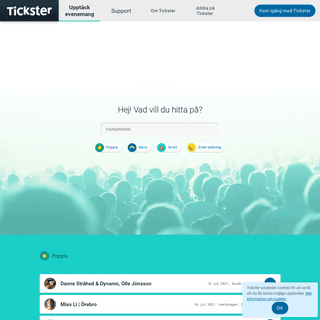 Biljetter till evenemang över hela Sverige - Tickster