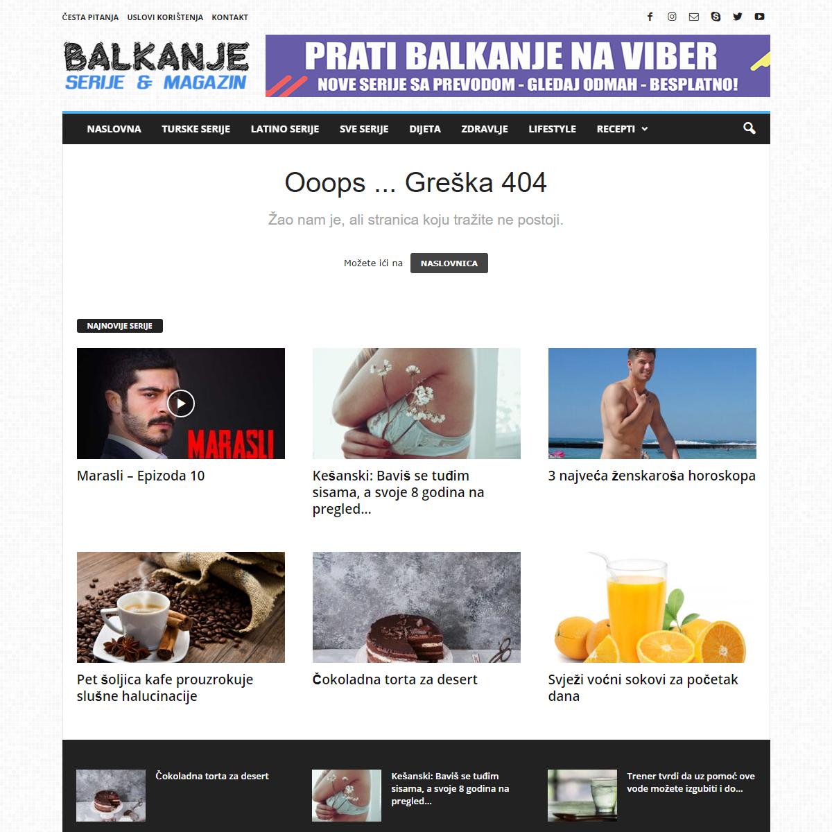 Page not found - BALKANJE