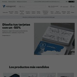 Vistaprint imprenta online- tarjetas de visita, marketing, ropa y más
