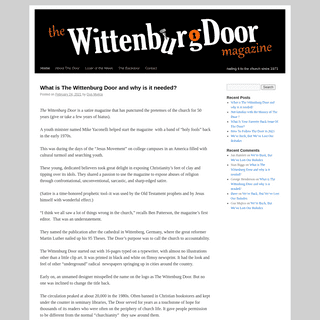 WittenburgDoor - nailing it to the church since 1971