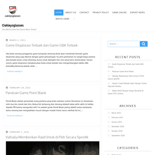 Oakleysglasses - Situs Berita Game Dan Esport Resmi Terbaik