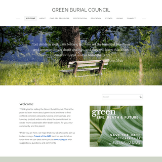 GREEN BURIAL COUNCIL - Welcome