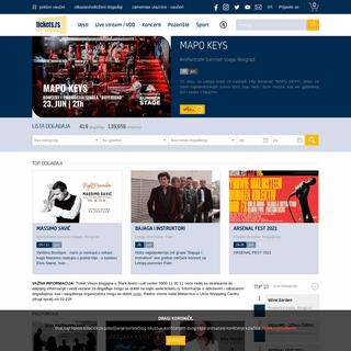 Tickets - Pozorište, Koncert, Festival - Kupi ulaznicu - ulaznice
