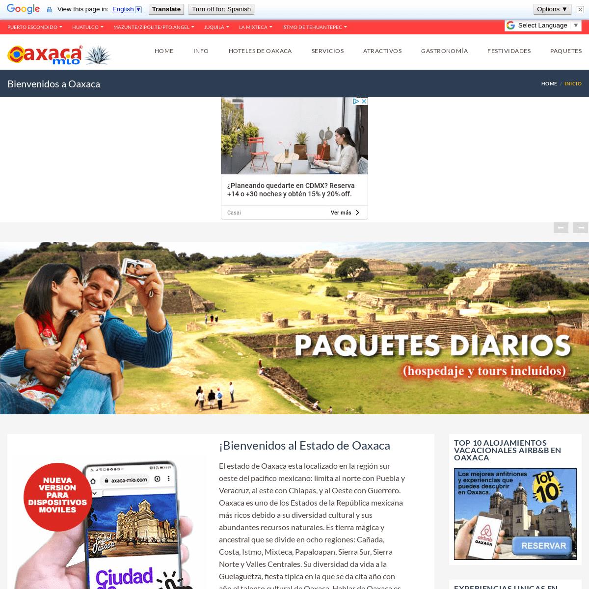 OAXACA MIO - The perfect guide to know Oaxaca - Hoteles, mapas, restaurantes de Oaxaca y todo para tu viaje en Oaxaca, Puerto Es