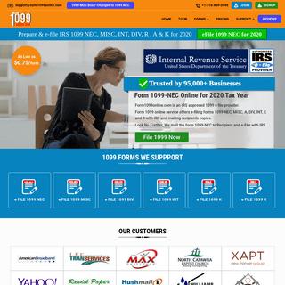 IRS form 1099 NEC Online for 2020, easy e-file 1099 forms - form1099online.com
