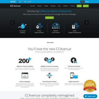 CCAvenue -- Merchant Account, Credit Card Processing & Payment Gateway