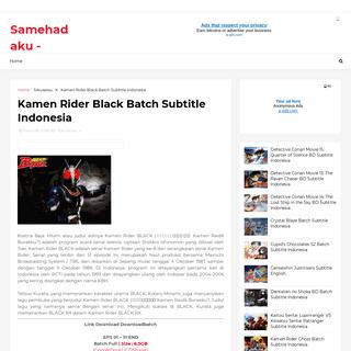 Kamen Rider Black Batch Subtitle Indonesia - Samehadaku - Meownime - Download Anime