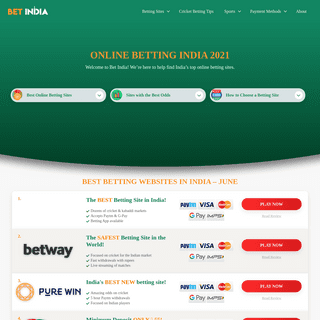 Online Betting - Best Betting Sites in India 2021 [GUIDE]