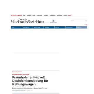 DEUTSCHE MITTELSTANDS NACHRICHTEN - Unabhängige Nachrichten für Meinungsmacher