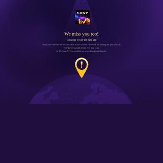 SonyLIV Geo blocked Page