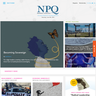Homepage - Non Profit News - Nonprofit Quarterly
