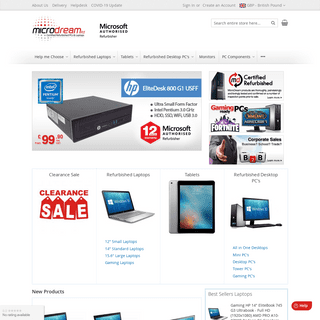 Certified Refurbished PCs and Laptops - MicroDream.co.uk