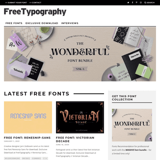 FreeTypography - The best free fonts, typefaces and typography