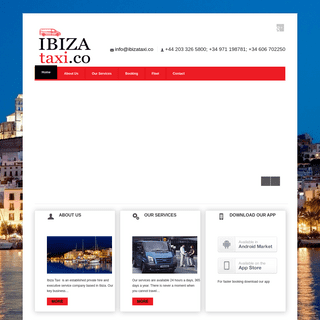 Ibiza Taxis- Home
