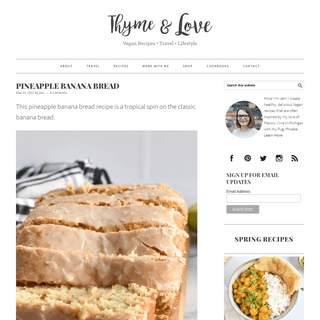 Thyme & Love - Vegan Food, Travel and Lifestyle Blog