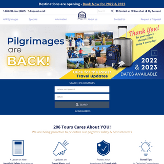Catholic Pilgrimages & Spiritual Journeys with 206 Tours - Since 1985 - Connecting pilgrims with God, one pilgrim at a time