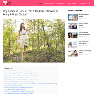 Internet Brides From Mail Order Bride Sites- Everything You Should Know About