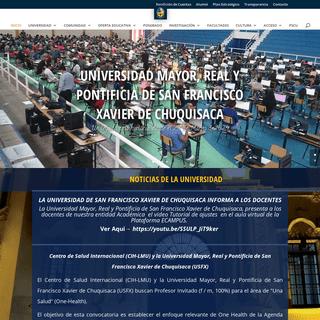 USFX - Universidad Mayor, Real y Pontificia de San Francisco Xavier de Chuquisaca