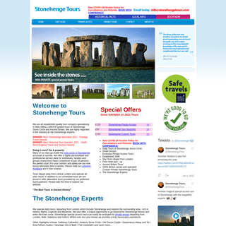 Stonehenge Tours. Guided Sightseeing Day Tours From London. Stonehenge private access trips