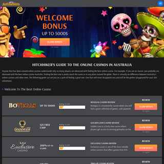 Hitchhikers Guide to the Online Casinos in Australia