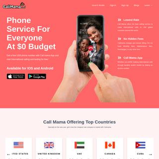 Call Mama- Free Phone Service - Calling & Texting