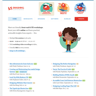 SmashingConf Online Workshops — Friendly, practical workshops for designers and web developers - Online Workshops