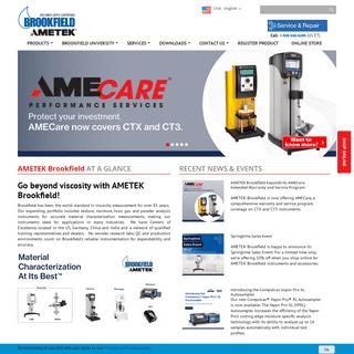 AMETEK Brookfield Website