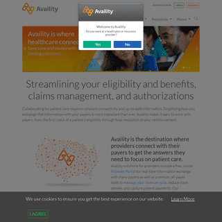 Availity- EDI Clearinghouse, Revenue Cycle Management, Provider Portal