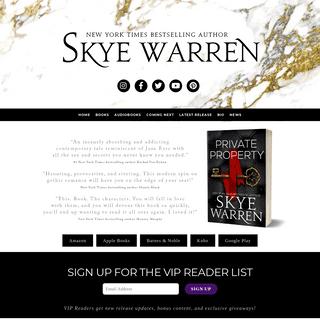Skye Warren – New York Times bestselling author