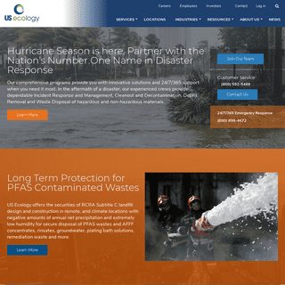 Leading provider of environmental and response services - US Ecology