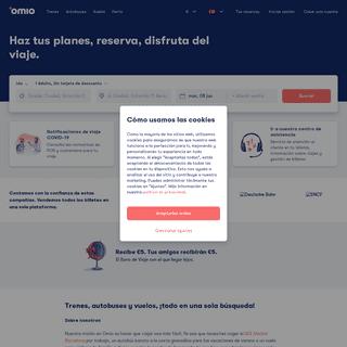 Billetes baratos de tren, AVE, autobús y avión online (GoEuro) - Omio