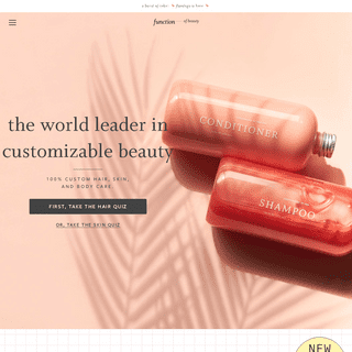 Custom Beauty - Individually Filled - Function of Beauty