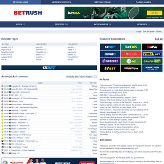 Betrush.com -- Free sport picks, previews and tips