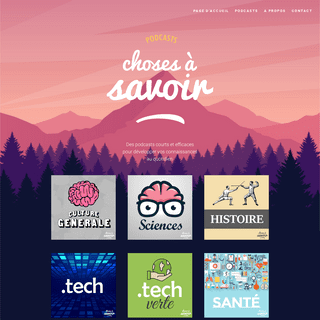 Choses à Savoir - Réseau de podcasts de culture générale - Choses à Savoir